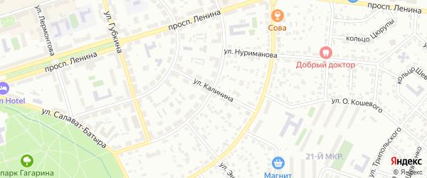 Улица Калинина на карте Октябрьского с номерами домов