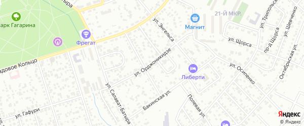 Улица Орджоникидзе на карте Октябрьского с номерами домов