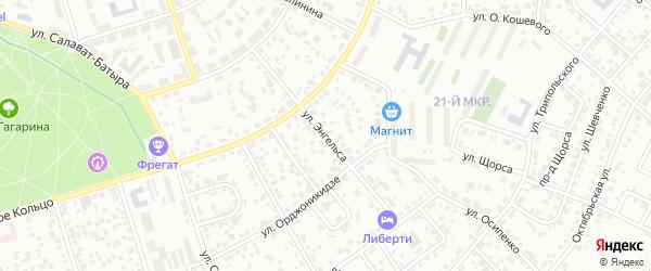 Улица Энгельса на карте Октябрьского с номерами домов