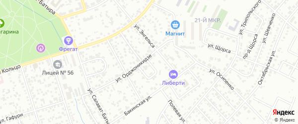 Кольцо Орджоникидзе на карте Октябрьского с номерами домов
