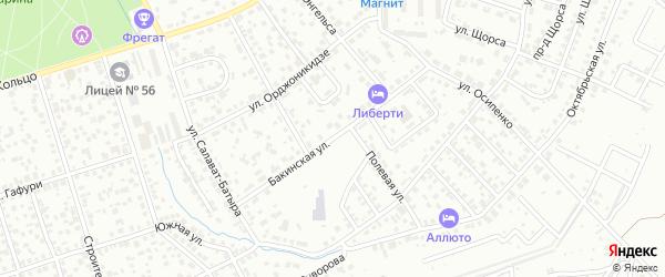 Бакинская улица на карте Октябрьского с номерами домов