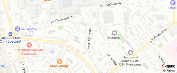 Бульвар Нуркаева на карте Октябрьского с номерами домов