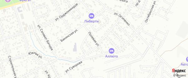 Полевая улица на карте Октябрьского с номерами домов