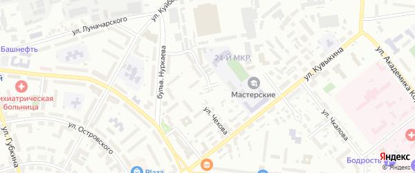 Улица Пушкина на карте Октябрьского с номерами домов