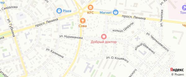 Улица Нуриманова на карте Октябрьского с номерами домов