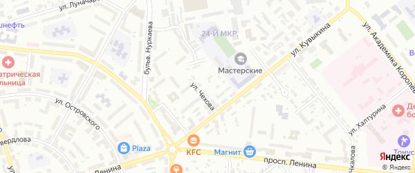 Тупик Чехова на карте Октябрьского с номерами домов