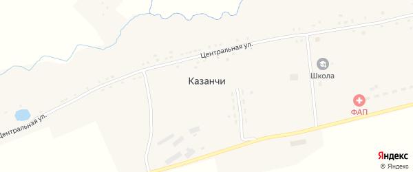 Улица Милисоновка на карте села Казанчи с номерами домов