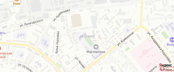 24-й микрорайон на карте Октябрьского с номерами домов