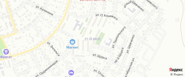 21-й микрорайон на карте Октябрьского с номерами домов