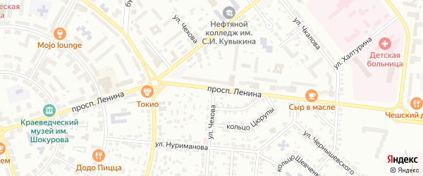 Улица Чехова на карте Октябрьского с номерами домов