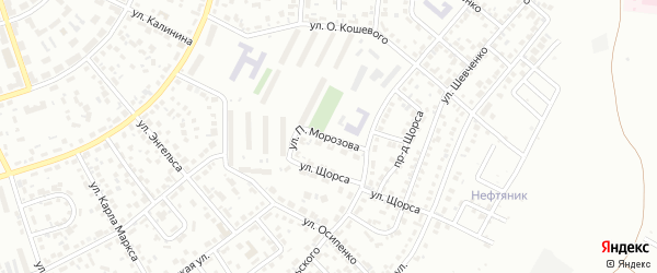 Улица П.Морозова на карте Октябрьского с номерами домов