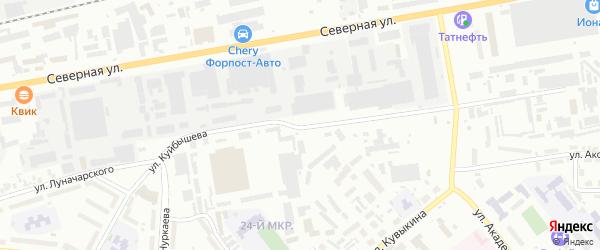 Улица Куйбышева на карте Октябрьского с номерами домов