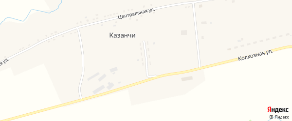 Молодежная улица на карте села Казанчи с номерами домов