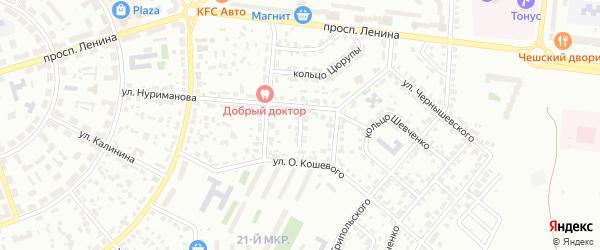 Проезд Нуриманова на карте Октябрьского с номерами домов