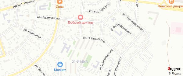 Улица О.Кошевого на карте Октябрьского с номерами домов