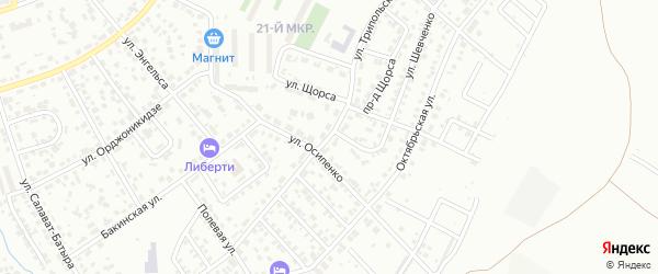 Улица Трипольского на карте Октябрьского с номерами домов