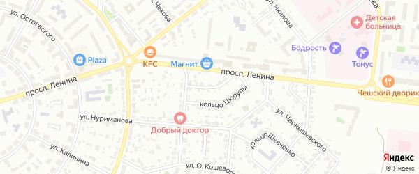 Проезд Цюрупы на карте Октябрьского с номерами домов