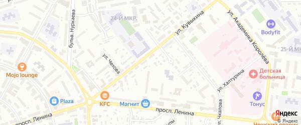 Улица Гастелло на карте Октябрьского с номерами домов