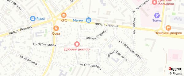 Кольцо Цюрупы на карте Октябрьского с номерами домов