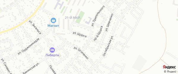 Улица Щорса на карте Октябрьского с номерами домов