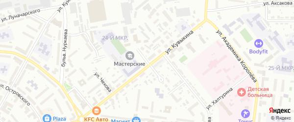 Тупик Кувыкина на карте Октябрьского с номерами домов