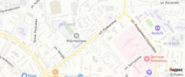 Улица Кувыкина на карте Октябрьского с номерами домов