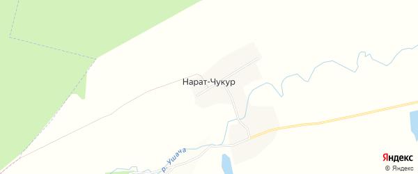 Карта деревни Нарата-Чукура в Башкортостане с улицами и номерами домов