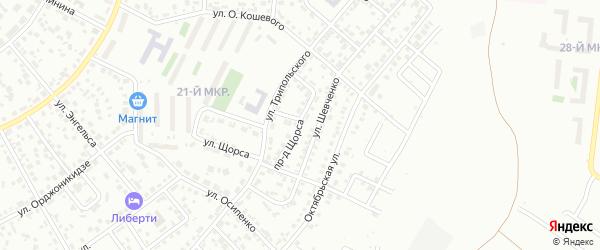Проезд Щорса на карте Октябрьского с номерами домов