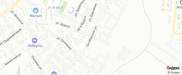 Октябрьская улица на карте Октябрьского с номерами домов