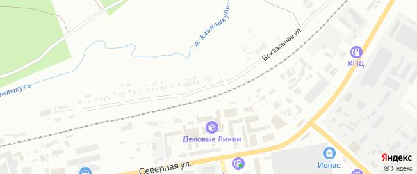Вокзальная улица на карте Октябрьского с номерами домов