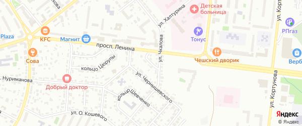 Кольцо Чкалова на карте Октябрьского с номерами домов