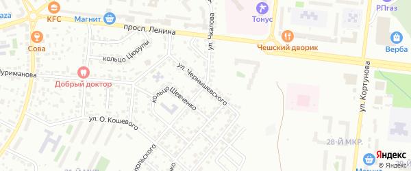 Улица Чернышевского на карте Октябрьского с номерами домов