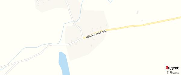 Школьная улица на карте деревни Нарата-Чукура с номерами домов
