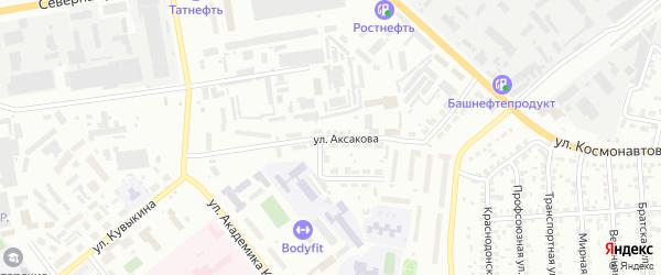 Улица Аксакова на карте Октябрьского с номерами домов