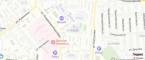 25-й микрорайон на карте Октябрьского с номерами домов