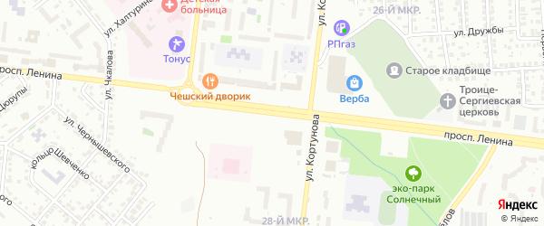 Проспект Ленина на карте Октябрьского с номерами домов