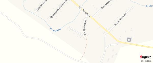 Улица Девятова на карте села Старотураево с номерами домов