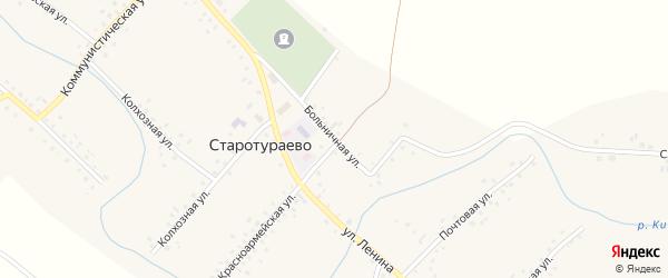 Больничная улица на карте села Старотураево с номерами домов