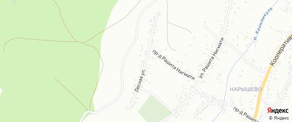 Лесная улица на карте Октябрьского с номерами домов