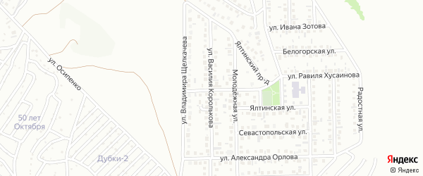 Улица Владимира Садовникова на карте Октябрьского с номерами домов