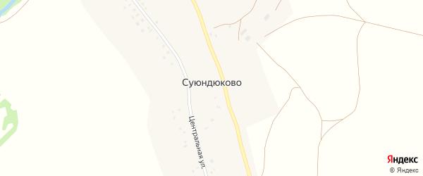 Речная улица на карте села Суюндюково с номерами домов