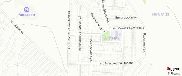 Улица Василия Королькова на карте Октябрьского с номерами домов