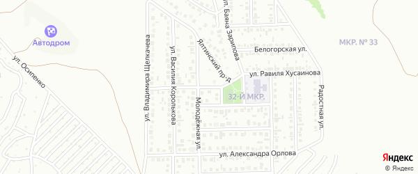 Улица Равиля Хусаинова на карте Октябрьского с номерами домов