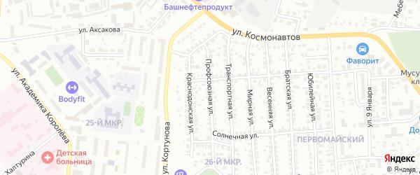 Профсоюзная улица на карте Октябрьского с номерами домов