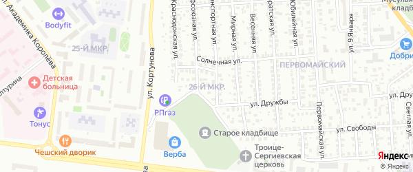 26-й микрорайон на карте Октябрьского с номерами домов