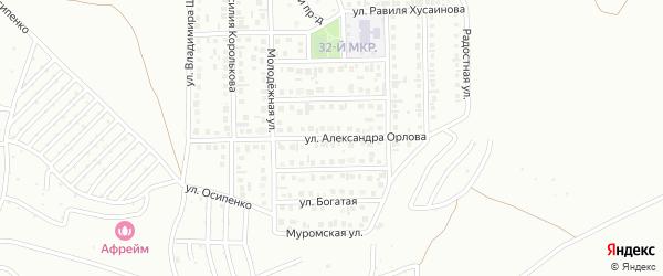 Улица Александра Орлова на карте Октябрьского с номерами домов