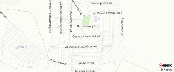 13-я улица на карте 40-й микрорайона с номерами домов