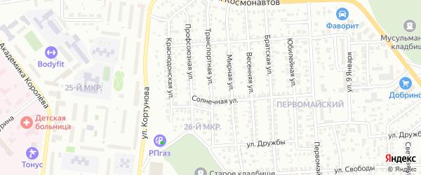 Транспортная улица на карте Октябрьского с номерами домов