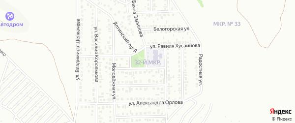 32-й микрорайон на карте Октябрьского с номерами домов