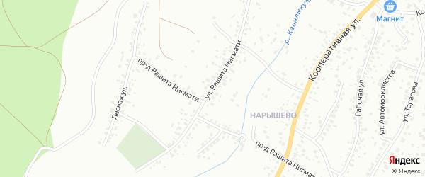 Улица Р.Нигмати на карте Октябрьского с номерами домов